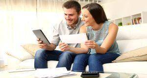 man and woman doing finance together