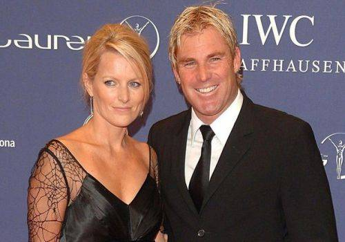 shane warne with his wife