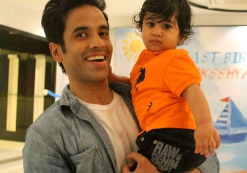 tushar with son