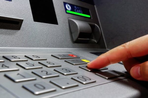 finger on atm machine