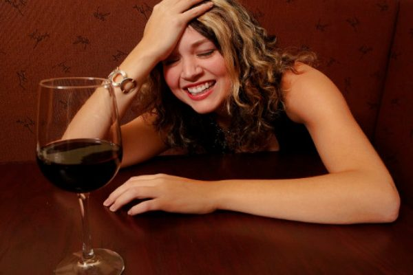 funny lady drinking