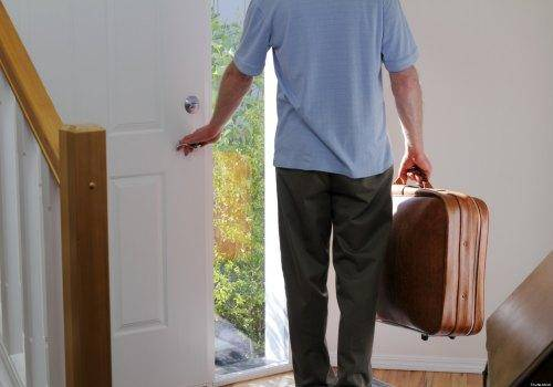 man leaving home