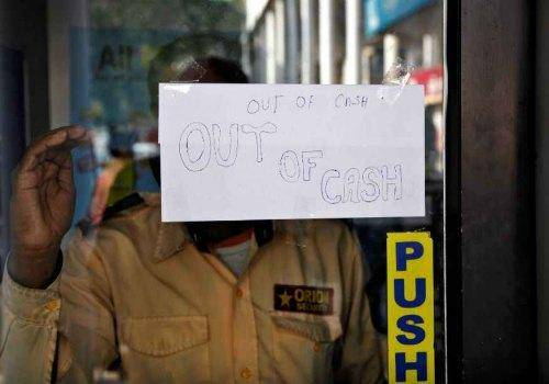 out of cash