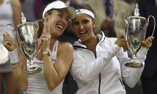 sania with martina