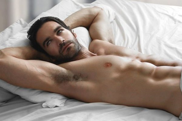 sexy man in bed