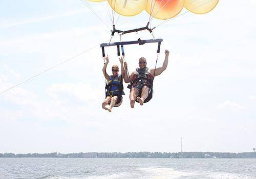 Parasailing with Spouse