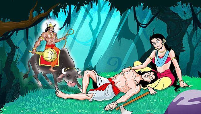 The Story of Savitri and Satyavan is very different