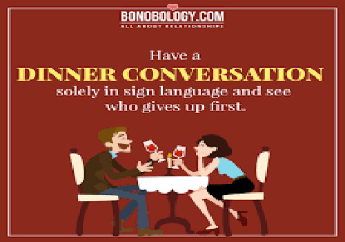 Sign language at dinner