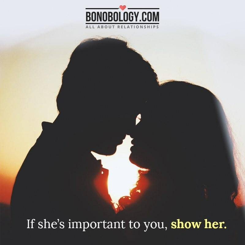 Tell her that you love her
