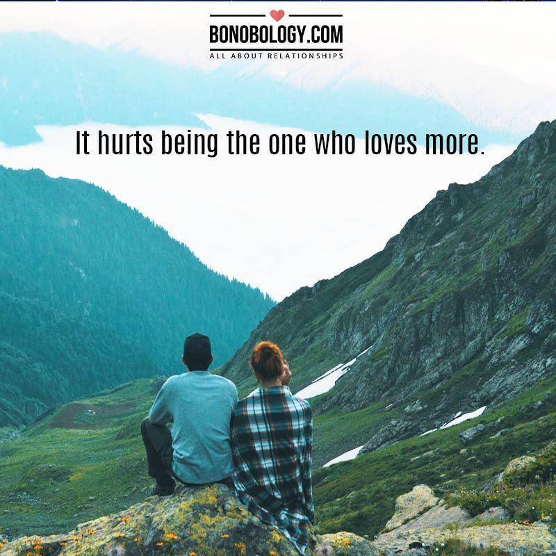 The one who loves more