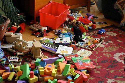 child mess at home