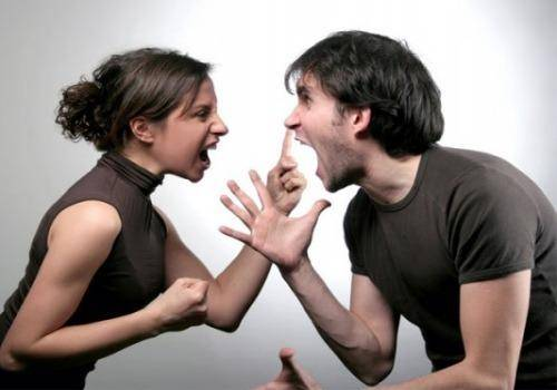 couple angry on each other