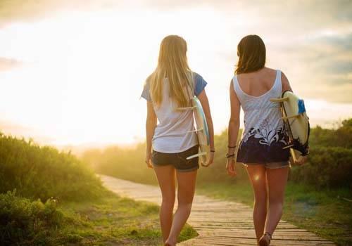 lesbians walking
