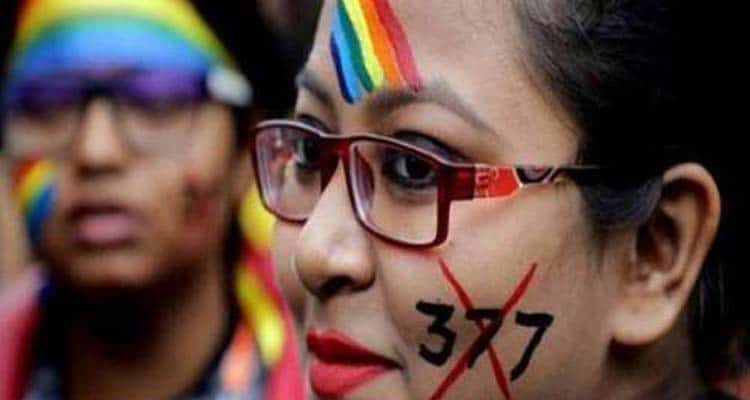 woman with Section 377 tattoo