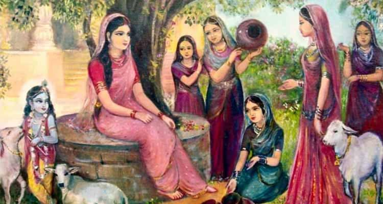 radha with friends
