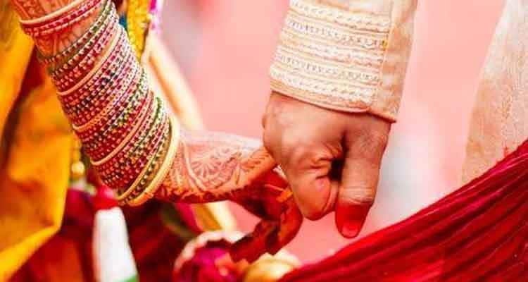 Indian couple during marriage
