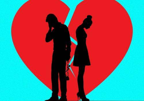sad man and woman with broken heart