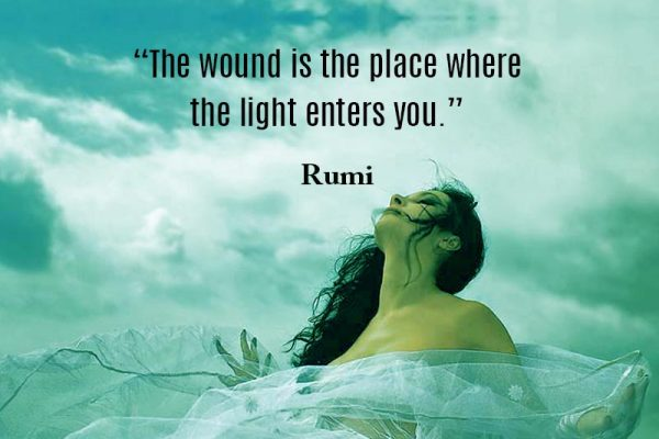 Light enters into your wounds