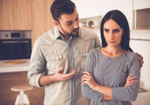angry woman not talking to husband