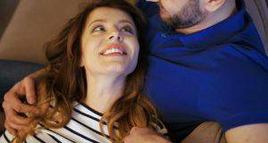happy woman with her husband. There are romantic things that you can tell your husband to make him feel loved