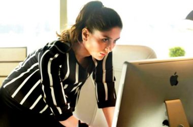 kareena in ki and ka using laptop