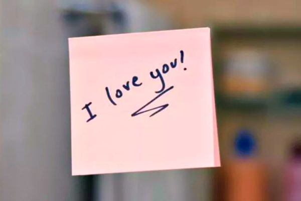 love notes on mirror