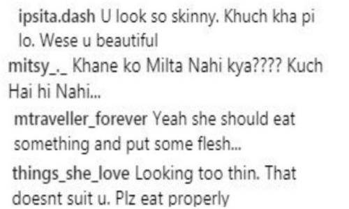 man commenting on mouni roy