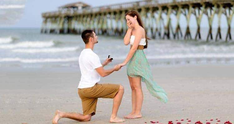 man propose women