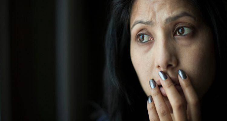 worried indian woman