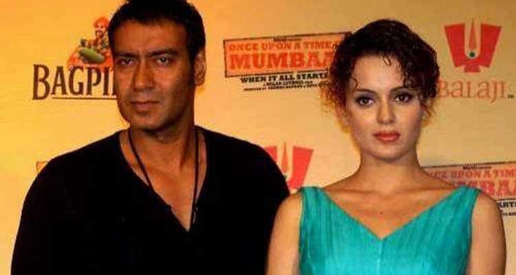 Kangana with Ajay devgan's affair