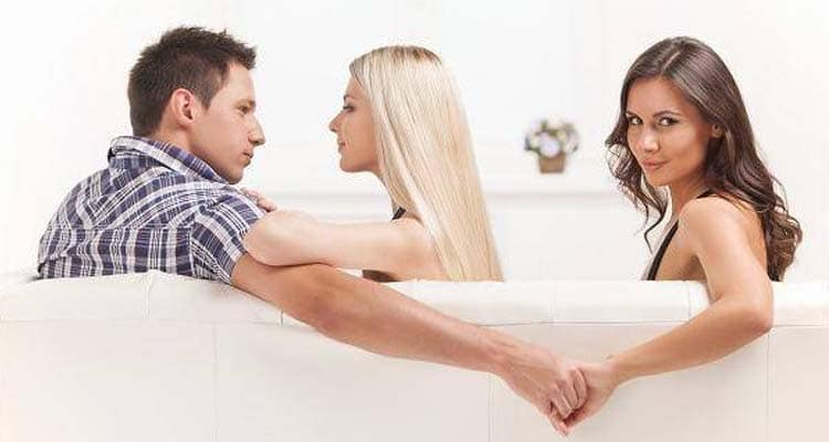 Man cheating on wife