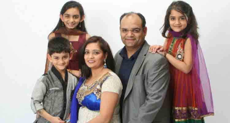 Kavita with her family