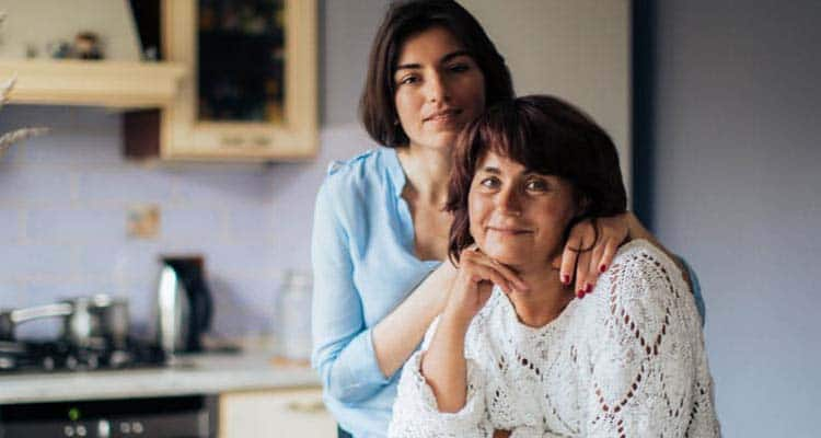 Woman with her mother in law