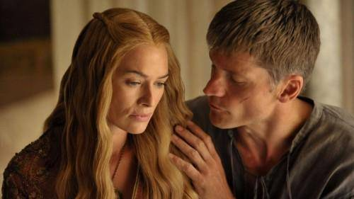 Jaime Lannister and Cersei in Game of Thrones.