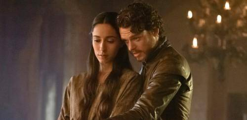 Robb Stark and Talisa in Game of Thrones