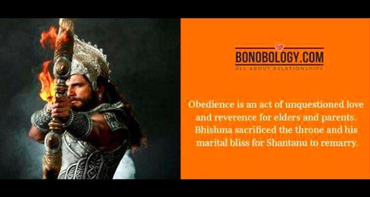 Bhishma saying