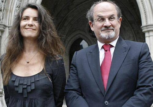 Salman Rushdie was married for the third time to Elizabeth West