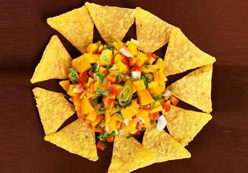Mango Salsa is a great recipe to make with mangoes