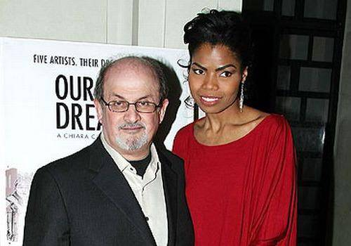 Salman Rushdie with Broadway and movie actor Pia Glenn