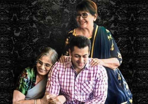 Salman Khan with mom Salma and stepmom Helen