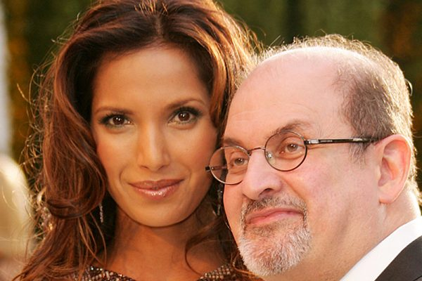 Salman Rushdie with his Indian American wife Padma Lakshmi
