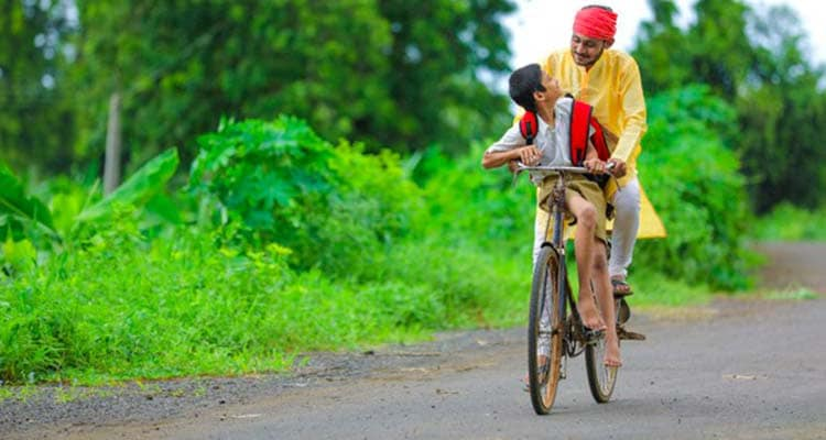 Cycling in rural area