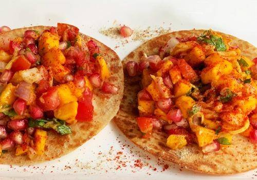 Mangoes can be used to make mango chaat