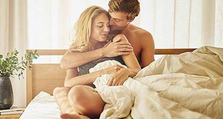 Couple on bed