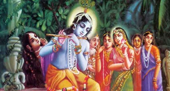 krishna with two wife