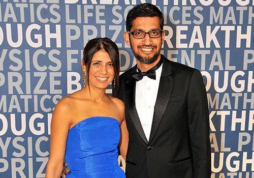 Sundar pichai is know for his simplicity and calm nature. Seen here with wife Anjali Pichai