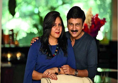 Ramesh Aravind with his wife