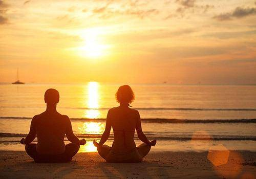 making relationship working by doing meditation. Meditation heals relationships