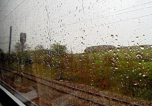Rain and window seat. a pluviophile loves the rain