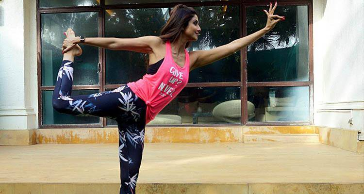 Shilpa Shetty doing yoga